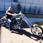 Mark on his Bourget's Bike Works chopper