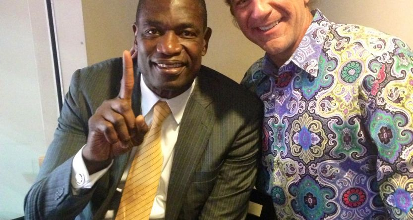 Mark and Mutombo Photo
